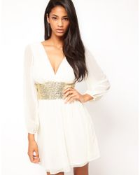 Asos Party Dress with Sequin Band - Lyst
