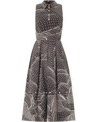 Christopher Kane Spiral-Print Sleeveless Dress - Lyst