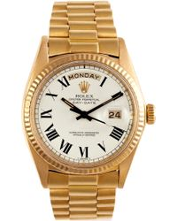 CMT Fine Watch And Jewelry Advisors - Rolex 18k Yellow Gold Daydate President with Buckley Dial - Lyst