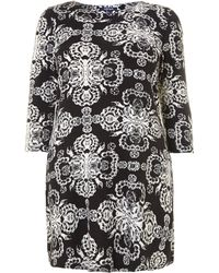 Samya Paisley Baroque Print Dress - Lyst