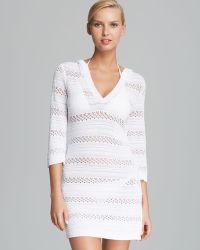 Tommy Bahama - Hooded Pointelle Knit Cover Up Jumper - Lyst