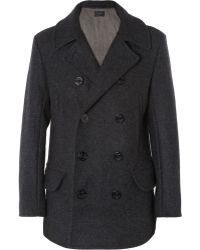 J.Crew | Quilted Wool Peacoat | Lyst