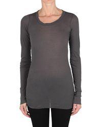 Rick Owens Cotton T-Shirt - Lyst
