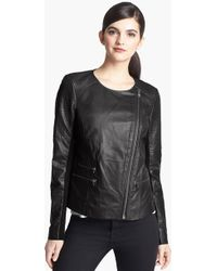 Trouvé Trouvé Quilted Leather Moto Jacket - Lyst