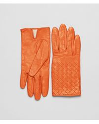 Bottega Veneta Soft Nappa Gloves - Lyst