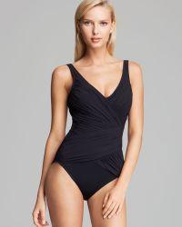Gottex Beach Goddess Surplice One Piece Swimsuit - Lyst