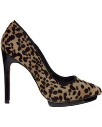 Aldo Madueno Leopard Pointed Heeled Court Shoes - Lyst