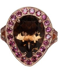 Dinny Hall | Rose Gold Vermeil Smoky Quartz Shai Ring | Lyst