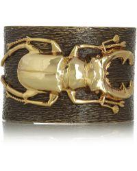 Iam By Ileana Makri - Beetle Goldplated Oxidized Brass Cuff - Lyst