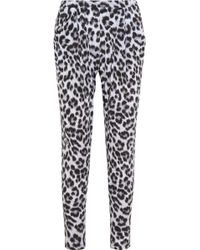 MICHAEL Michael Kors - Tunisia Cheetahprint Jersey Trousers - Lyst