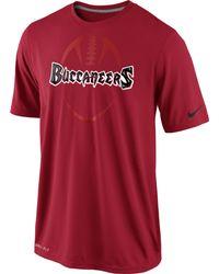 Nike Men'S Short-Sleeve Dri-Fit Tampa Bay Buccaneers T-Shirt - Lyst