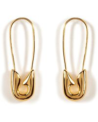 Tom Binns - 24kt Goldplated Small Safety Pin Earrings - Lyst