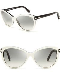 Tom Ford Telma Cat Eye Sunglasses - Lyst