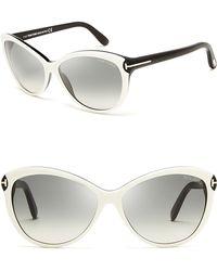 Tom Ford Telma Cat Eye Sunglasses black - Lyst