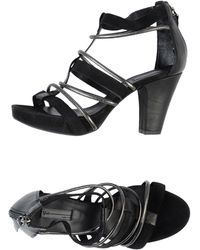 Vic Black Platform Sandals - Lyst