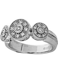 Charriol | Diamond Three Circlestation Ring Size 65 | Lyst