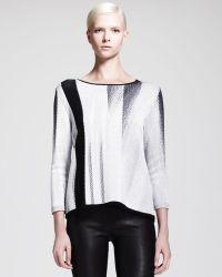 Helmut Lang Virga Jacquard Knit Sweater - Lyst