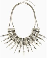 Nasty Gal Geo Spike Necklace - Lyst