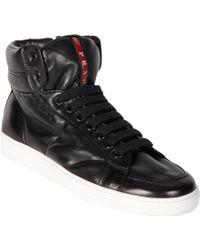 Prada High Top Sneakers - Lyst
