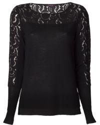 Rachel Roy - Lace Knit Sweater - Lyst