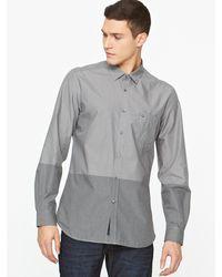 Diesel Diesel Sausan Camicia Contrast Panel Stripe Mens Shirt - Lyst