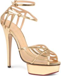 Charlotte Olympia Octavia Leather Platform Sandals - For Women - Lyst