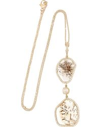 Nina Runsdorf - 18karat Rose Gold Diamond Necklace - Lyst