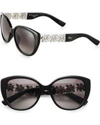 Dior Oversized Metal  Plastic Sunglasses - Lyst