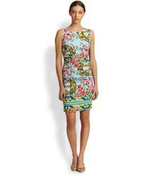 Dolce & Gabbana Floral Wheel Print Cady Dress - Lyst