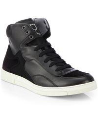 Ferragamo Robert High-Top Sneakers - Lyst