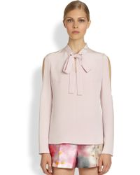 Honor Silk Tieneck Blouse - Lyst