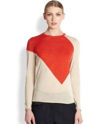 Derek Lam Geometric Cashmere & Silk Sweater - Lyst