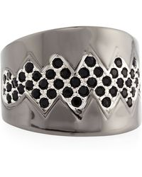Eddie Borgo - Black Pave Bear-trap Ring - Lyst