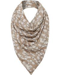 Helene Berman Dog Silk Square Scarf - Lyst