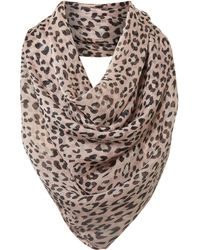 Helene Berman Animal Print Silk Scarf - Lyst