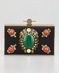 Jason Wu Karlie Jeweled Box Clutch Bag - Lyst