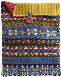 Joules - Knitted Fairisle Ipad Case - Lyst