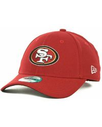 New Era San Francisco 49Ers First Down 9Forty Cap - Lyst