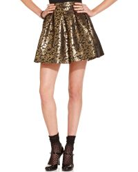 Teen Vogue Mini Skirt - Lyst