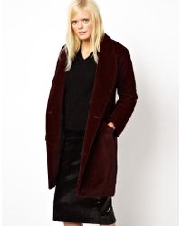 Antipodium - Facade Coat in Faux Pony Skin - Lyst