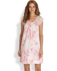 Cottonista - Floral Cotton Gown - Lyst