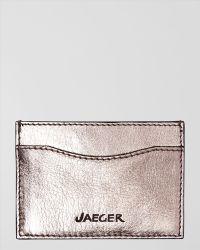 Jaeger Leather Card Holder - Lyst