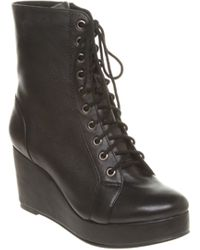 Jeffrey Campbell Front Lace Up Wedge Boot - Lyst