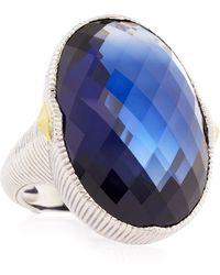 Judith Ripka Corundum Large Oval Ring - Lyst