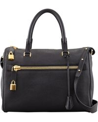 Tom Ford Freya Pebbled Leather Satchel Bag - Lyst