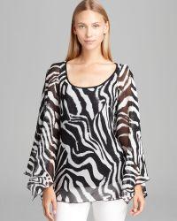Grayse - Zebra Flutter Chiffon Top - Lyst