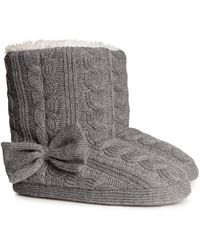 H&M G Knitted Slippers - Lyst