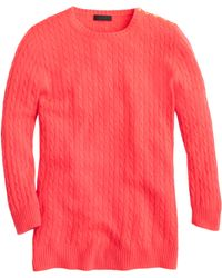 J.Crew Collection Cashmere Minicable Sweater - Lyst
