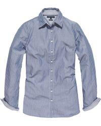 Tommy Hilfiger Wanda Stripe Shirt blue - Lyst