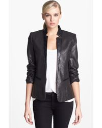 Trouvé Trouvé Foiled Faux Leather Trim Blazer - Lyst
